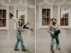 Fall Downtown Charleston SC Engagement Photos