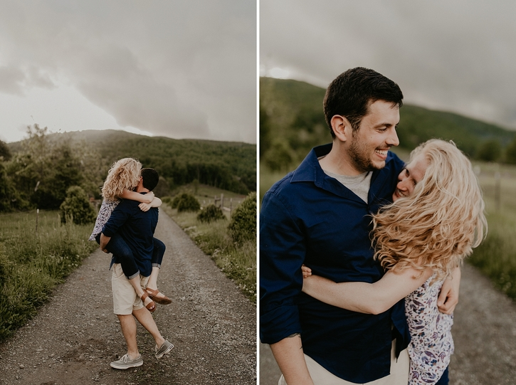 Charlottesville Mountain Engagement Photos
