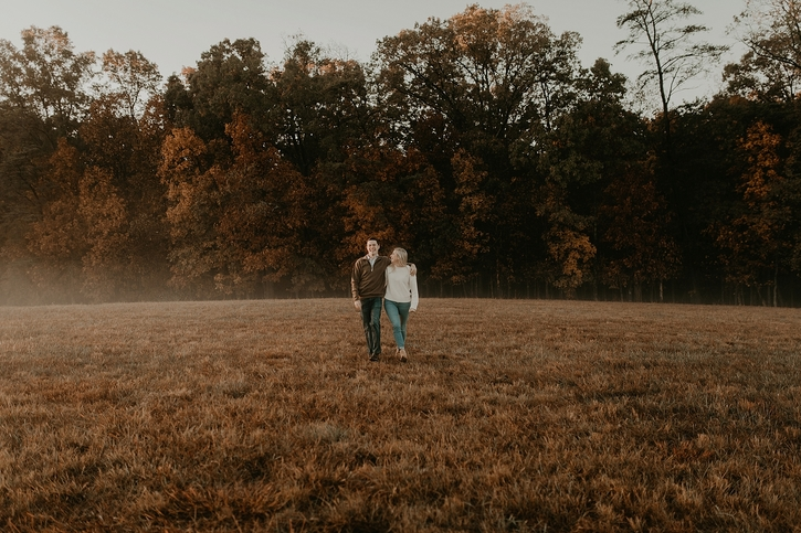 fall dc engagement photos