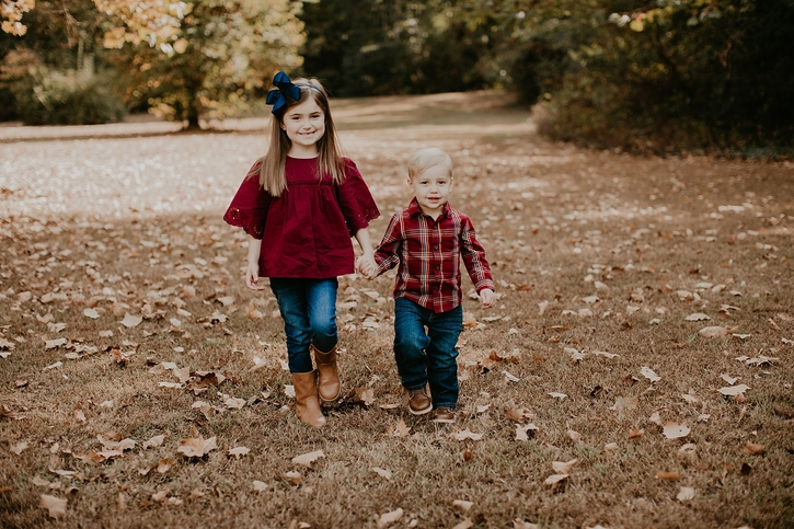 Fall Dogwood Dell Family Photos
